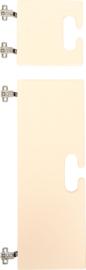 Kleine en grote deur voor kameleon garderobe - beige