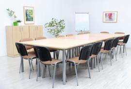 Linker tafel in een esdoorn kleur