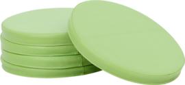 Ronde kussens, 5 stuks, licht-groen
