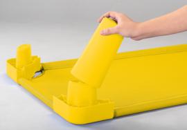 Poten voor stretcher  geel