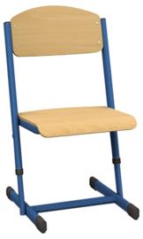 Len stoel met instelbare hoogte - maat 1-6 blauw