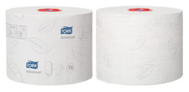 Toiletpapier Tork T6 127530 Advanced 2laags 100m 27rollen