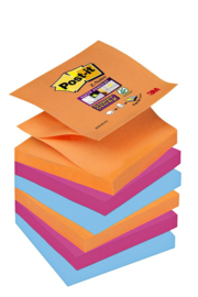 Memoblok 3M Post-it Z-Note S350-6EG 76x76mm Super Sticky Bankok