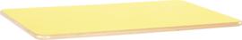 Rechthoekig Flexi tafelblad 120x80cm geel los