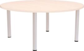 Ronde Quint-tafel 90 cm met esdoornrand 40-58cm