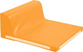 Vierkant zitje met rugleuning - oranje