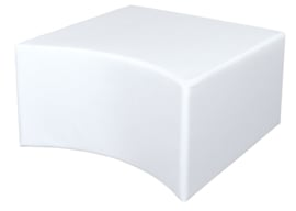 Holle witte poef zithoogte 34 cm