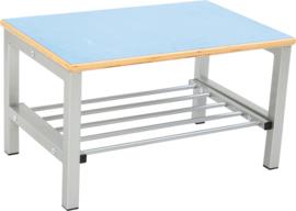 Flexi garderobe bank 2, hoog 26 cm - lichtblauw