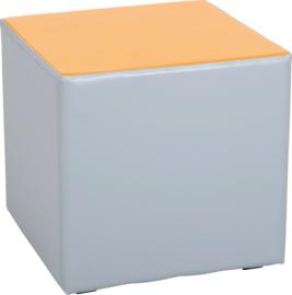 Wachtruimte zitje  40x40x40cm - Grijs/oranje