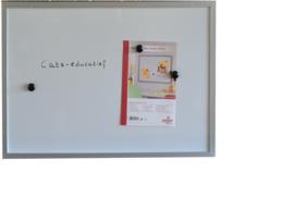 Magnetisch whiteboard 60 x 80 cm.