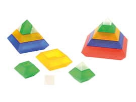 Triangel bouwstenen transp.