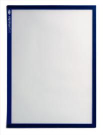5 stuks Magnetische documenthouders A4, blauw