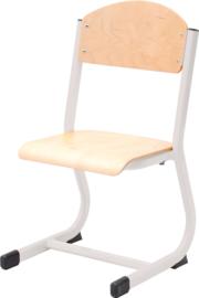 NIC stoel - zilver-beuken,maat 2-6