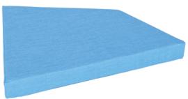 Quadro matras  licht blauw, hoogte 10 cm