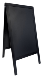 Stoepbord Securit 70x125x4cm zwart hout
