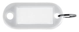 Sleutellabel Pavo kunststof wit