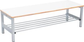 Flexi garderobe bank 4, hoog 26 cm - wit