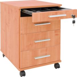 Container met een pennenlade en archieflade - beuken