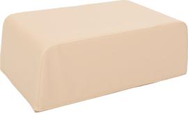 Kleine zachte tafel poef hoogte 24cm - beige