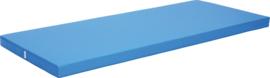 Anti slip matras Afm. 200 x 85 x 8 cm blauw