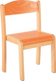 Maxime stoel met viltdoppen oranje, maat 1-4