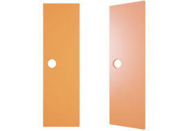 Deuren voor garderobe Mariposa met rond gat - oranje