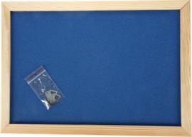 Prikbord 90 x 120 cm - marine