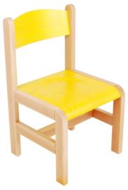 Hout stoel, geel maat 1-3