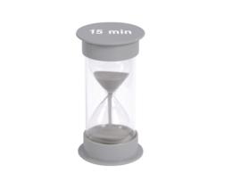 Zandloper 12,5 cm., 15 min.