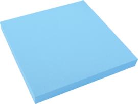 Geluiddempend vierkant PLUS, lichtblauw