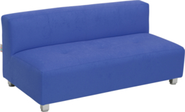 Flexi brede bank, zithoogte 25 cm, blauw
