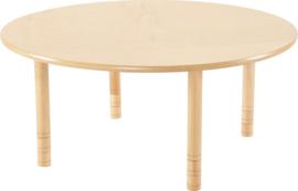 Ronde Flexi tafel 120cm beuken 58-76cm hoogte verstelbaar
