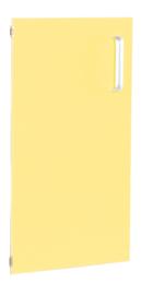 Deur voor smalle kast Flexi en kast M met scheidingswand links -  -  geel