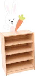 Kast voor stoffencontainers met applicatie - konijn