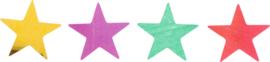 Glanzende confetti, grote sterren