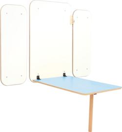 Klaptafel Flexi - blauw  46-64cm