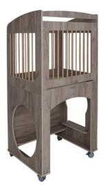 Box wielen spijlen kantelhek -  Grey Craft Oak