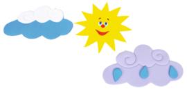 Ster Zon en wolken wanddecoratie