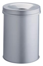 Papierbak met vlamdover Vepabins 15 liter grijs