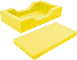 Schuimbed met uitsparingen - geel