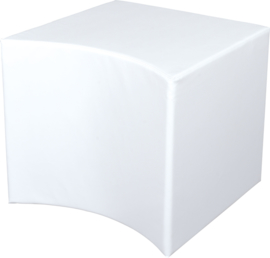 Holle witte poef zithoogte 54 cm