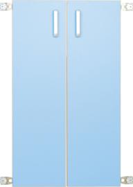 Deur voor niveau verhoger XL (092819) - licht blauw