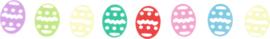 Glanzende confetti, eieren