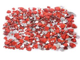 Edelstenen 4 maten 1000 stuks - Hart