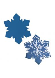 Krasfolie sneeuwvlokje blauw 36stuks