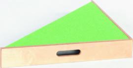 Driehoek platform, hoogte: 10 cm, licht-groen