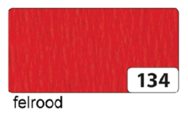 Crepepapier 250x50cm nr134 felrood