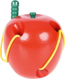 Rijgspel - appel met worm