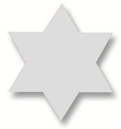 Plakfiguur - Ster zilver 200st