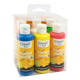 Creall-fingerpaint 6x80ml - Assorti